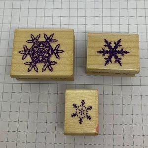 ☃️ INKADINKADO ☃️ Snowflake Stamp Set
